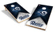 Los Angeles Rams 2x4 Cornhole Board Set - Weathered