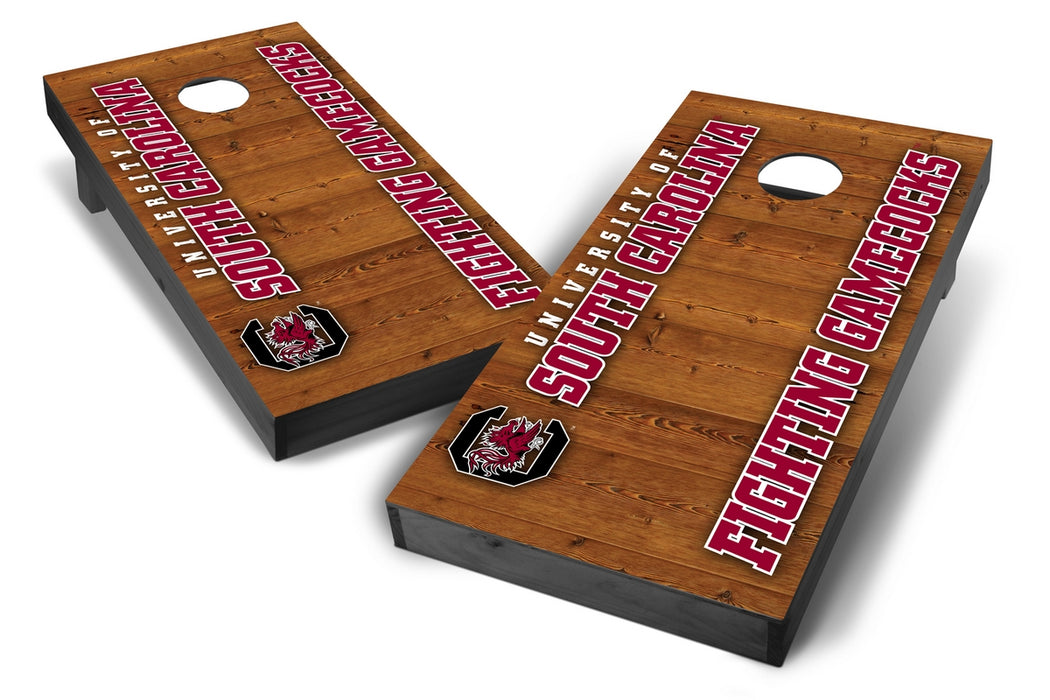 South Carolina Gamecocks 2x4 Cornhole Board Set Onyx Stained - Vertical