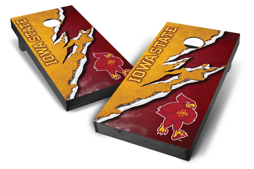 Iowa State Cyclones 2x4 Cornhole Board Set Onyx Stained -  Ripped