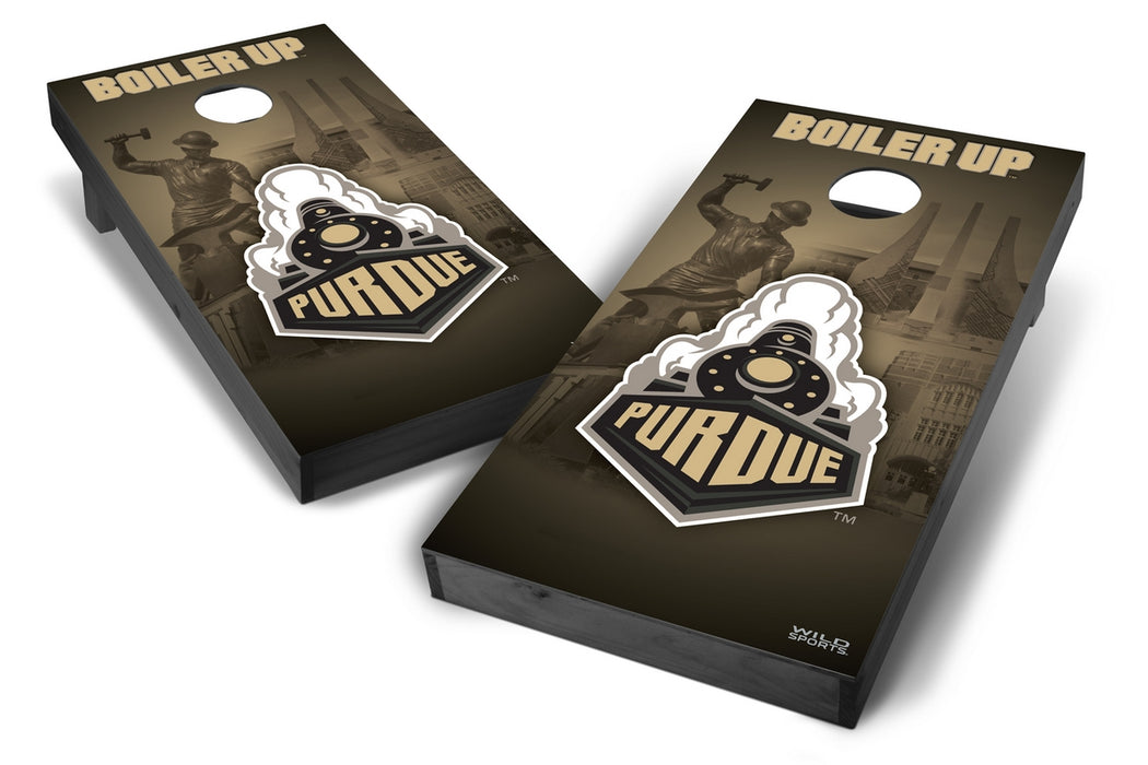 Purdue Boilermakers 2x4 Cornhole Board Set Onyx Stained - Wild