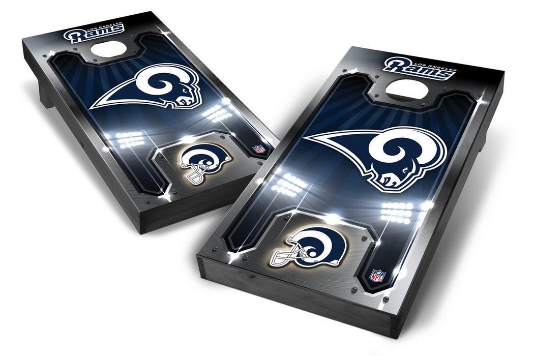 Los Angeles Rams 2x4 Cornhole Board Set Onyx Stained - s Rams