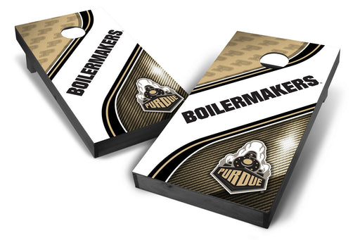 Purdue Boilermakers 2x4 Cornhole Board Set Onyx Stained - Swirl