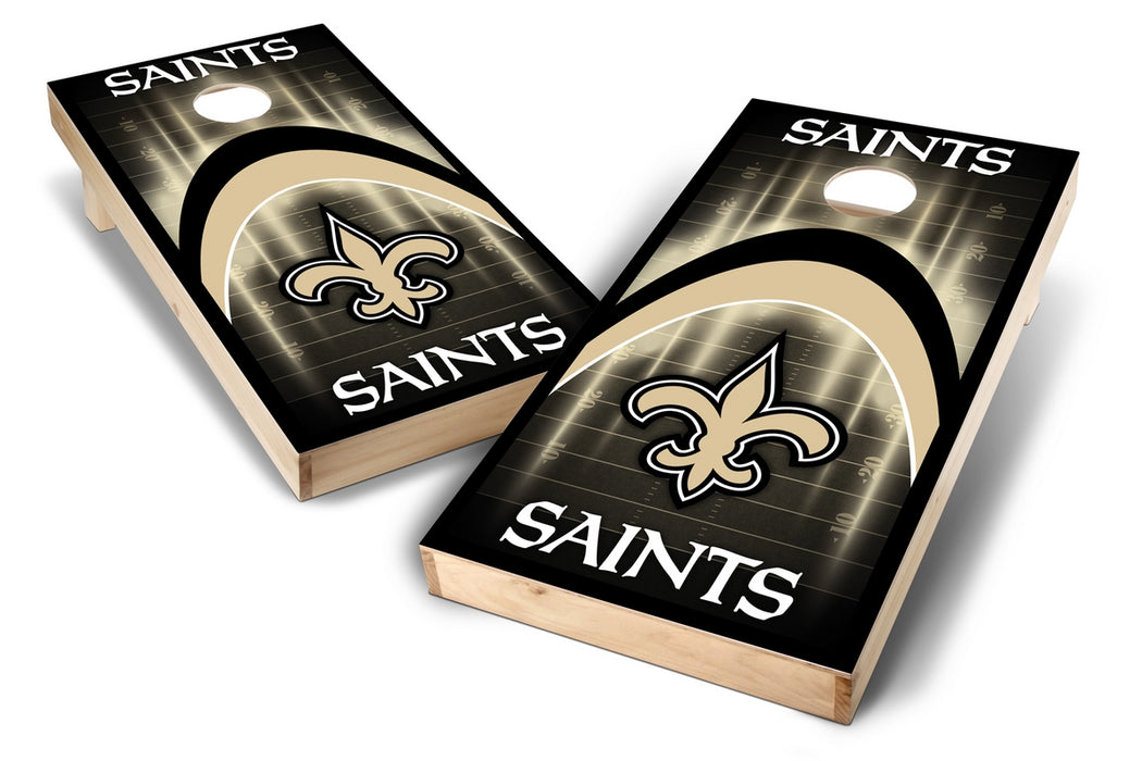 New Orleans Saints 2x4 Cornhole Board Set - Arch