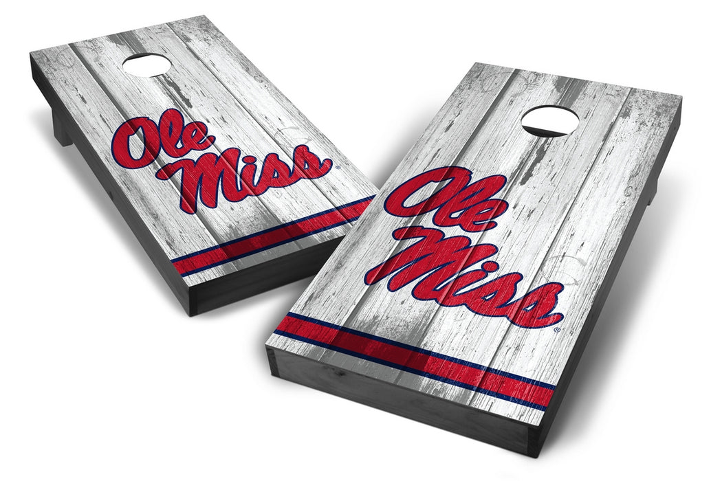 Ole Miss Rebels 2x4 Cornhole Board Set Onyx Stained - Vintage