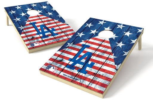 Los Angeles Dodgers 2x3 Cornhole Board Set - American Flag