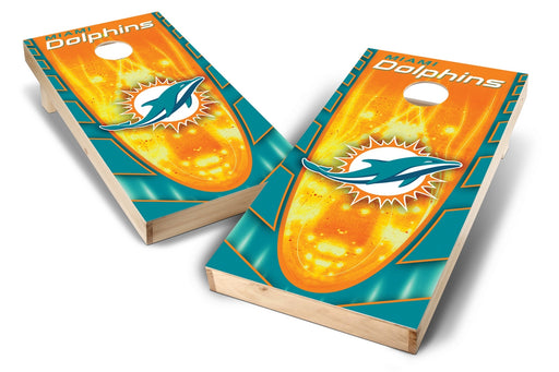 Miami Dolphins 2x4 Cornhole Board Set - Hot