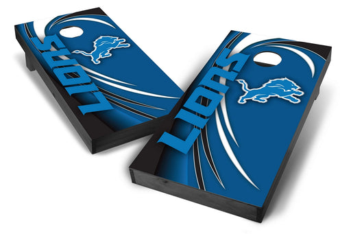 Detroit Lions 2x4 Cornhole Board Set Onyx Stained - Spiral