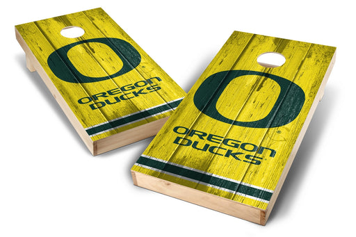 Oregon Ducks 2x4 Cornhole Board Set - Vintage