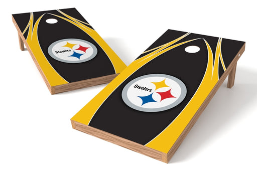 Pittsburgh Steelers 2x4 Cornhole Board Set - Edge