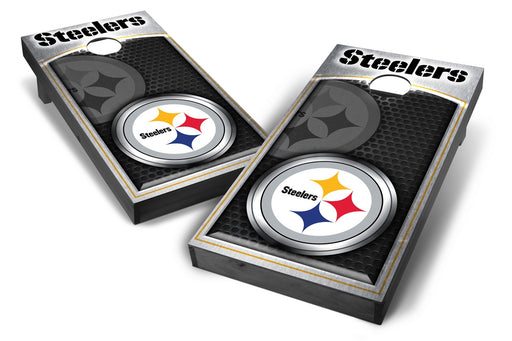 Pittsburgh Steelers 2x4 Cornhole Board Set Onyx Stained - Medallion