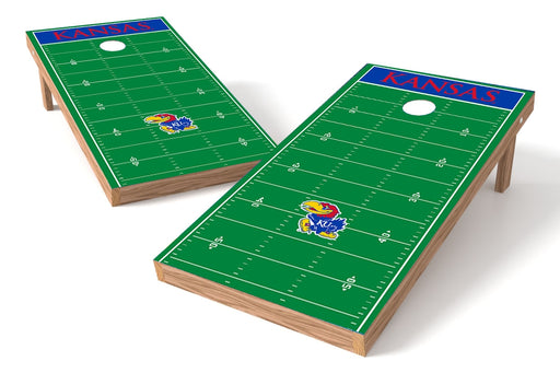 Kansas Jayhawks 2x4 Cornhole Board Set - Field