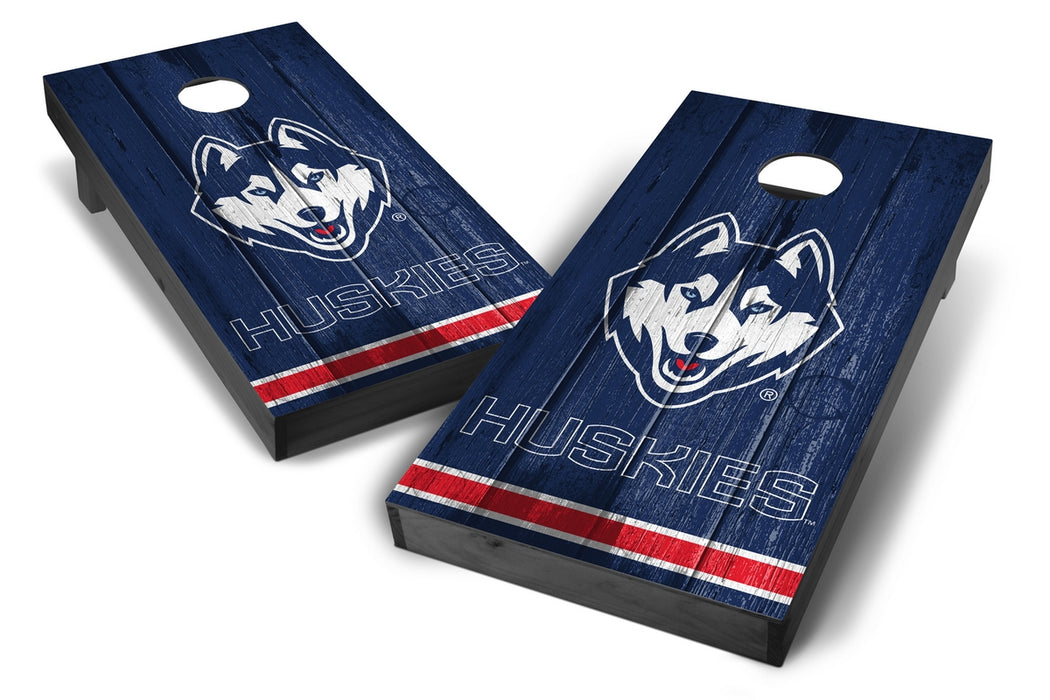 Connecticut Huskies 2x4 Cornhole Board Set Onyx Stained - Vintage