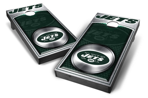 New York Jets 2x4 Cornhole Board Set Onyx Stained - Medallion