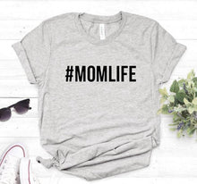 #MOMLIFE Letters print Women tshirt Cotton Casual  t shirt For Lady Girl Top Tee