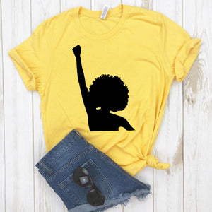 Black Power feminist Print Women tshirt Cotton Fun t-shirt