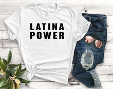 LATINA POWER Print Women T-shirt Cotton Casual Fun t shirt