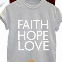 FAITH HOPE LOVE Print Women tshirts Cotton Casual Funny t shirt For Lady Top