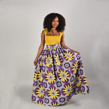African Women Skirt A-Line Skirts Digital printing Floor-Length Elegant vestidos High Waist Vintage Puff skirt