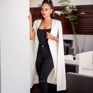 Fashion women coat new arrival autumn  elegant simple solid open stitch cloak outerwear coat Jacket