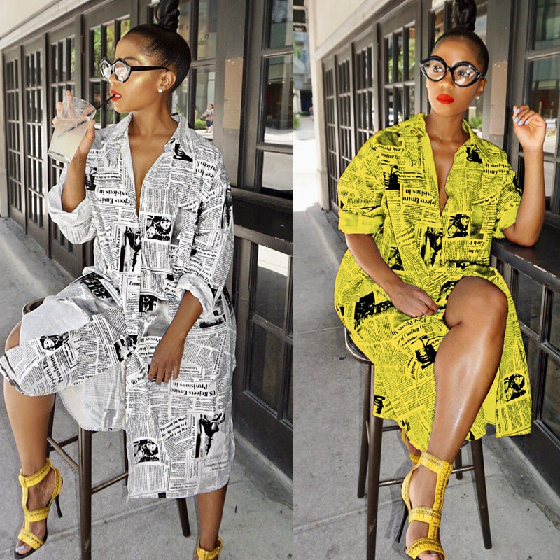 Autumn summer dress boho loose dresses fall long sleeve print African clothes plus size