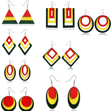 Dayoff Boho India Woman Africa Geometric Earrings Women Jewelry Mixing Colorful Wood Dangel Big Earings Maxi Hook Earring Ehunda