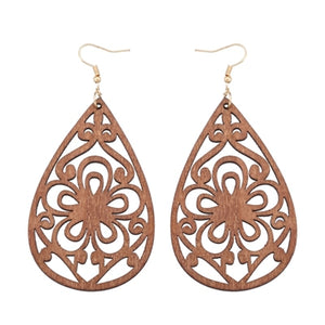 Natural African Drops Openwork Flowers Shapes for National Women Jewelry Pendant Earrings Gifts