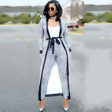 New Arrival 3 Pieces Set Women Crop Top&Pencil Pants&Jacket Fashion Clelebrity Office Lady Elegant Patchwork Long Sleeves Casual