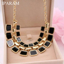 IPARAM 2019 Trendy Necklaces Pendants Link Chain Collar Long Plated Enamel Necklace Women Jewelry