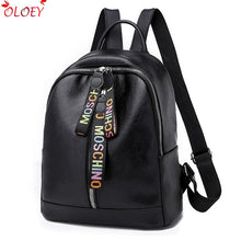 Double Zipper Backpack Women Pu Leather  Travel Bags Designer Female Backpack