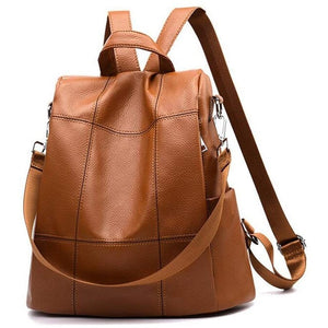 Women Backpack Purse Waterproof Pu Leather Anti-Theft Rucksack Fashion  Shoulder Bag