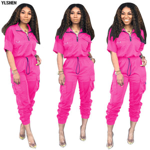 Neon Green 2 Two Piece Set Women Tracksuit Festival Clothes Plus Size Summer Outfits Tops +Pants Sweat Suit Matching Sets 2019
