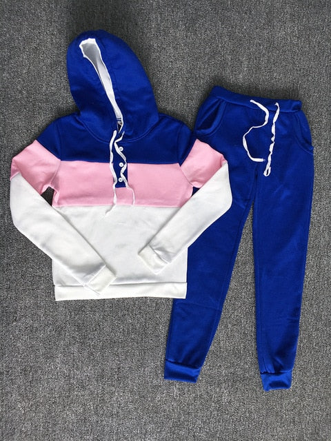 Sweat Suit Set 2019 Women Tracksuit Two-piece Sport Style Outfit Jogging Sweatshirt Fitness Lounge Sportwear