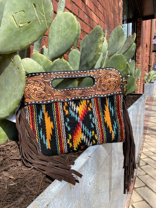 Black Aztec Clutch