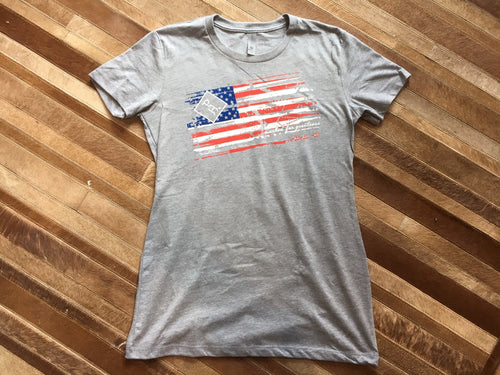 Ladies American Flag Shirt
