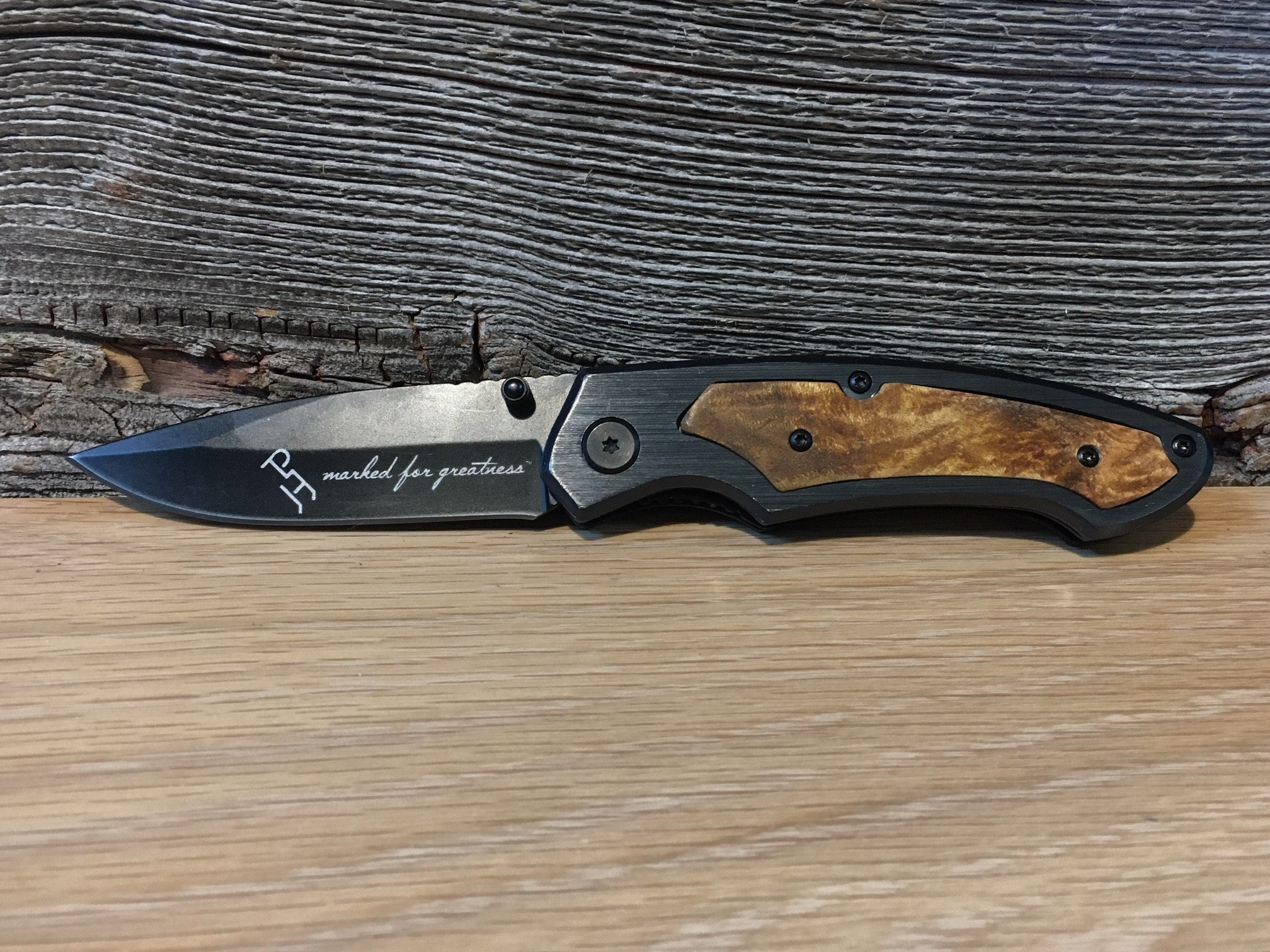 Gun Metal Pocket Knife