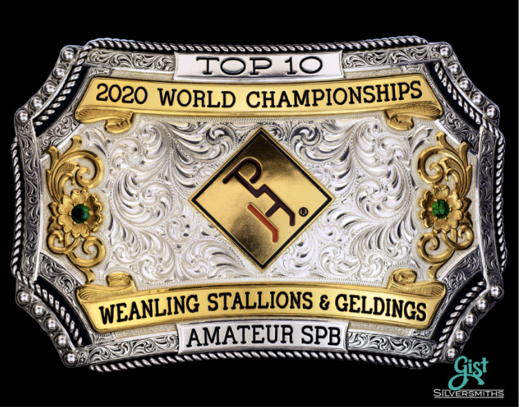 World Show Top Placing Buckle