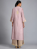 Mauve Tilla Embroidered Chanderi Silk Kurta