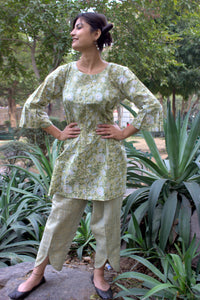 Forest Green kurti with pants (set of 2)