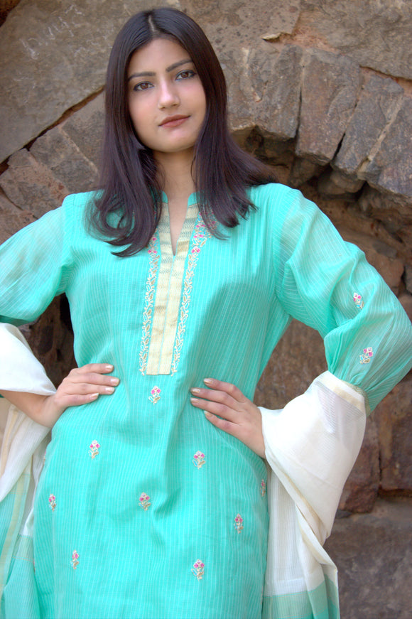 Mint Melody Kurta