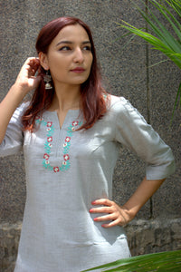Tropical green Kurti
