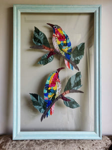 Sunbirds Framed Art work