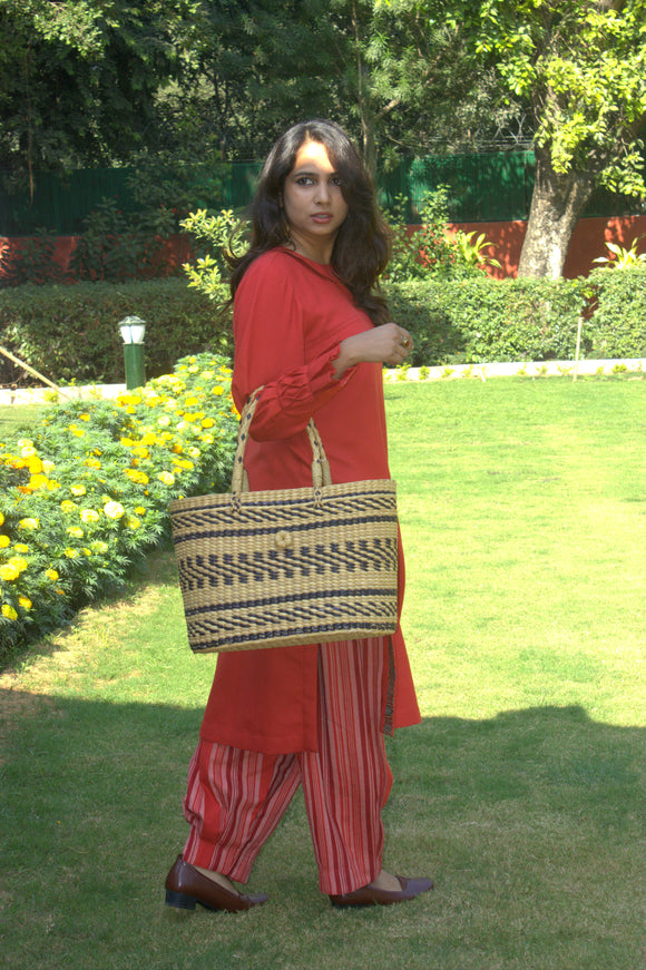 Red Jungle fowl pant salwar