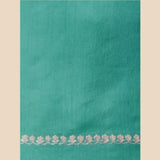 Sea-Green Embroidered Chanderi Blouse Fabric