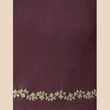 Burgundy Embroidered Chanderi Blouse Fabric
