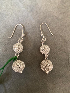 Thread ball Earrings