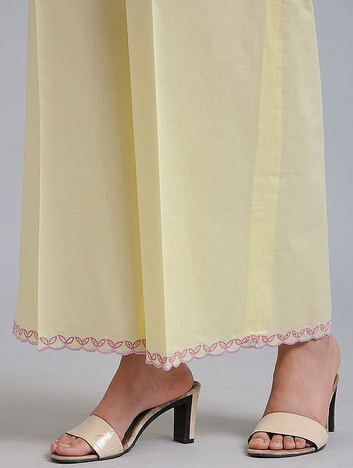 Lemon Cutwork Pants