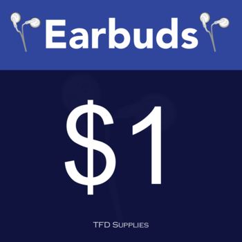 Earbud Storage Tub Stickers