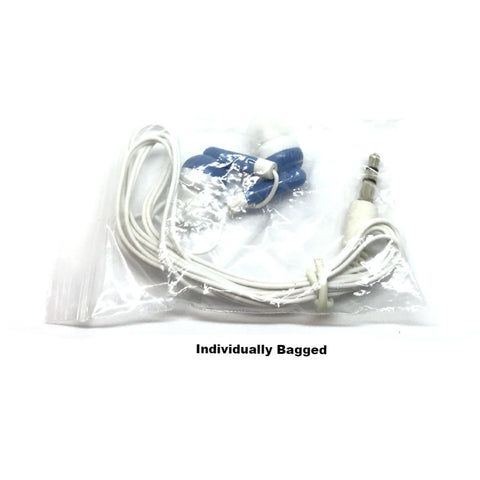 Blue Stereo Earbud Headphones