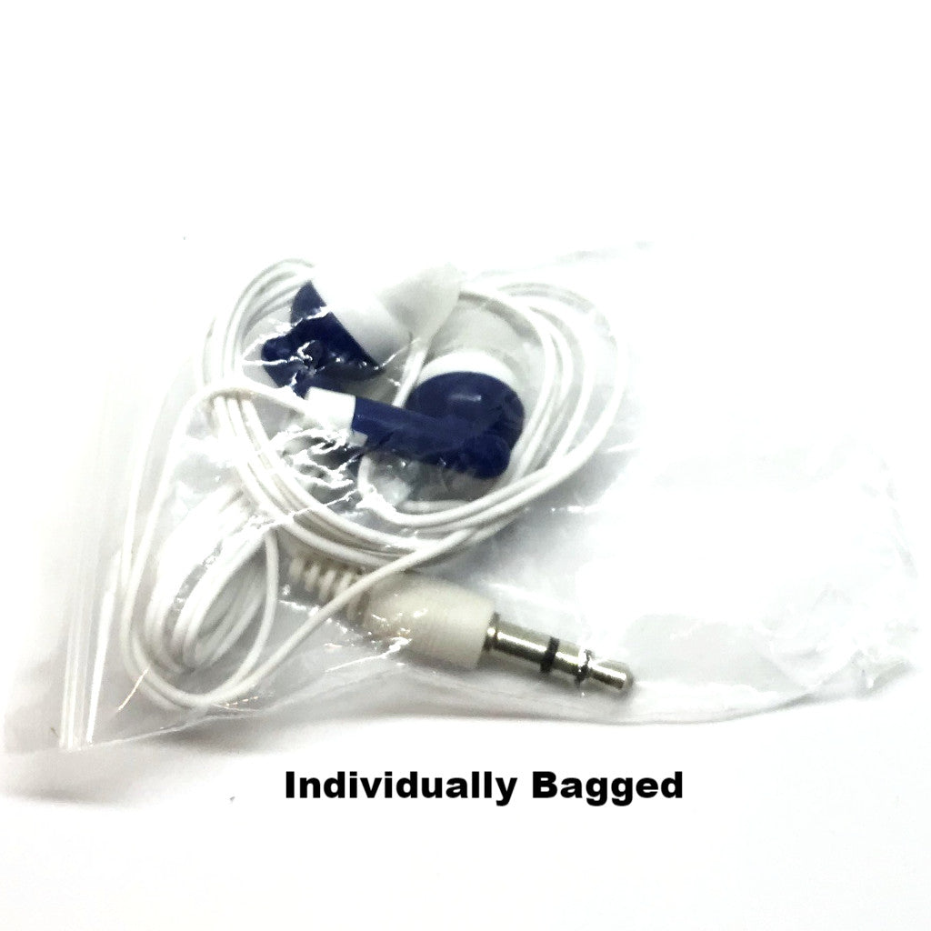 Navy Blue Stereo Earbud Headphones