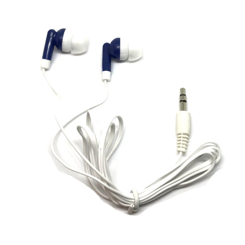 Image of Navy Blue Stereo Earbud Headphones